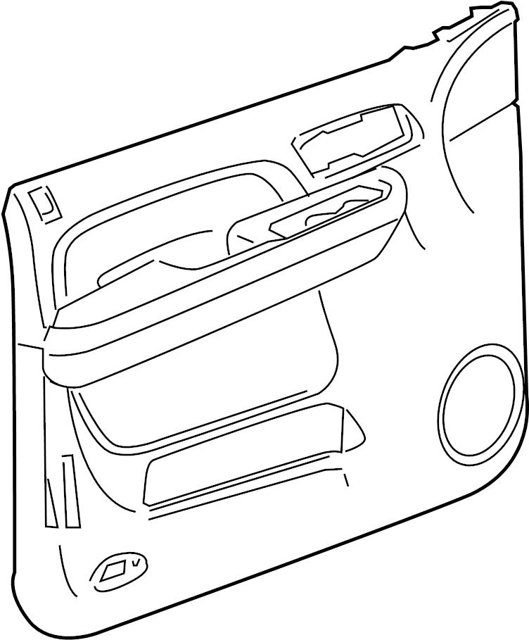 2010 Chevrolet Silverado 2500 Panel. Door trim/access