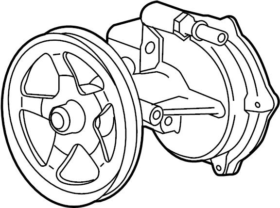 2015 Chevrolet Silverado Pump. Engine vacuum pump. Pump