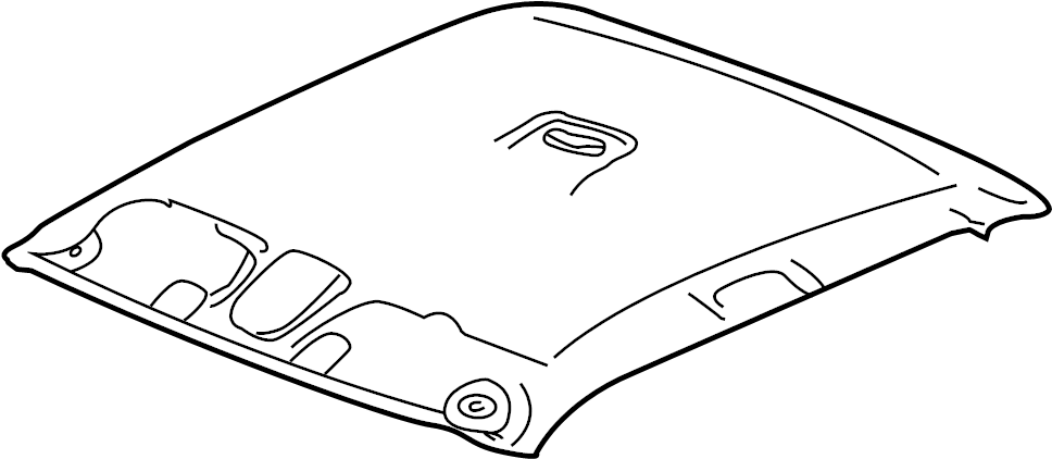Chevrolet Silverado Panel. Roof trim (interior). Panel