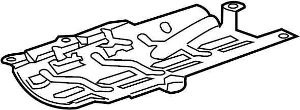 Chevrolet Sonic Baffle. Engine oil pan. Baffle, oil pan
