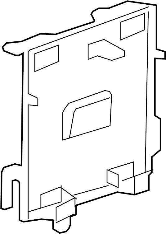 2009 Saturn Outlook Bracket. Emission control system