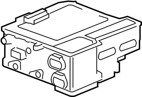 2008 Chevrolet Tahoe LTZ 4DR Module. Drive motor battery