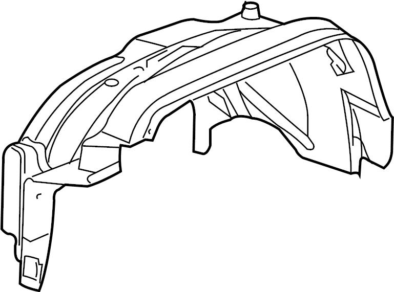 Hummer H3 Liner. Front fender inner wheel house. Whuse