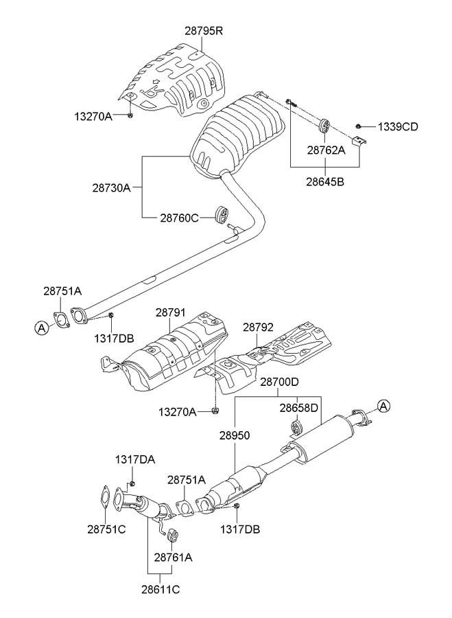 2013 Hyundai Sonata Catalytic cnvrtr. Catalytic Converter