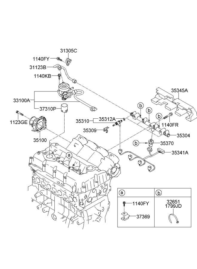 2012 Hyundai Sonata Injector. Ring. Fuel. Kit. Seal. Kit
