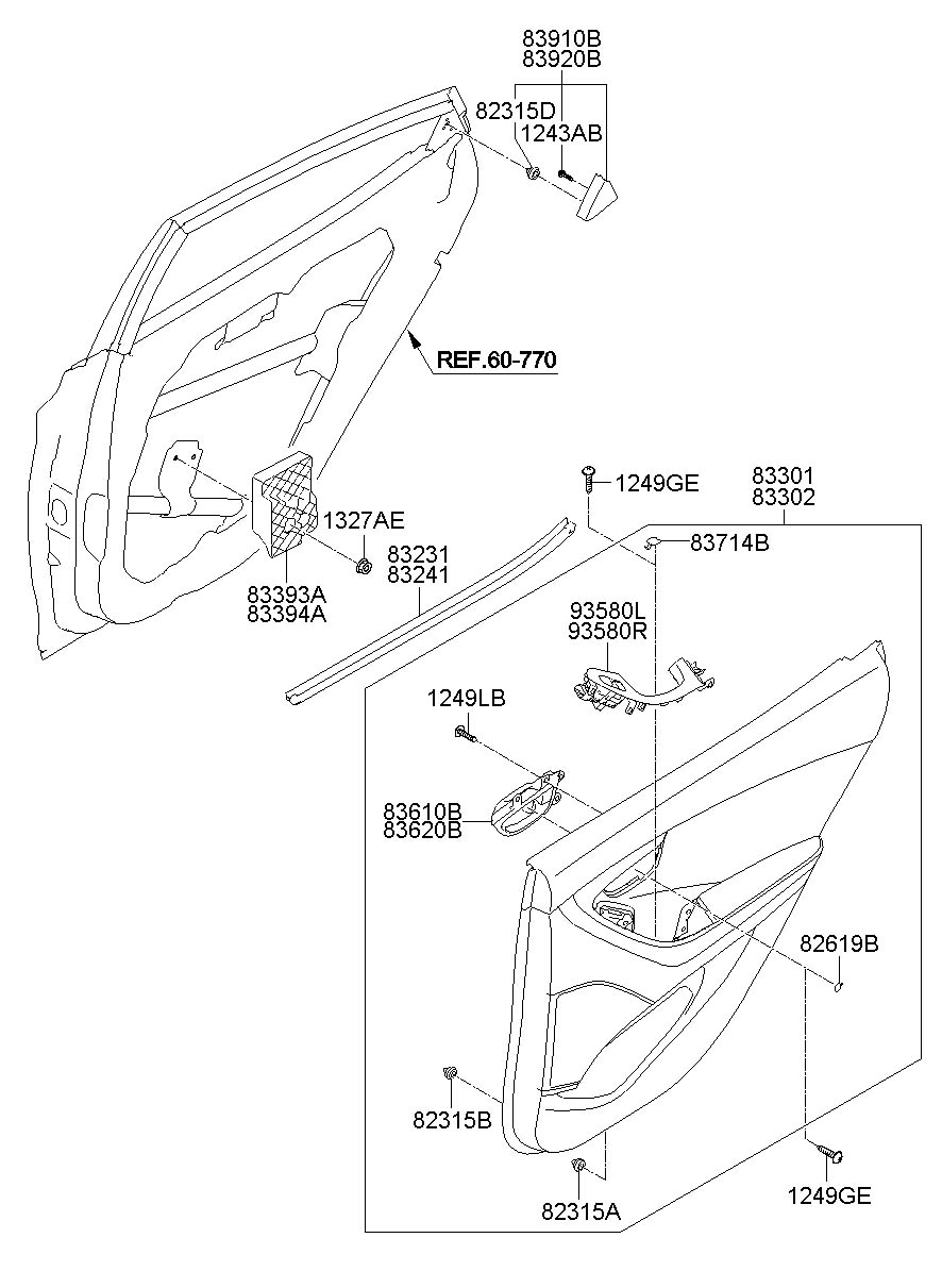 2013 Hyundai Elantra Trim. Clip. Panel. Retainer. FASTENER