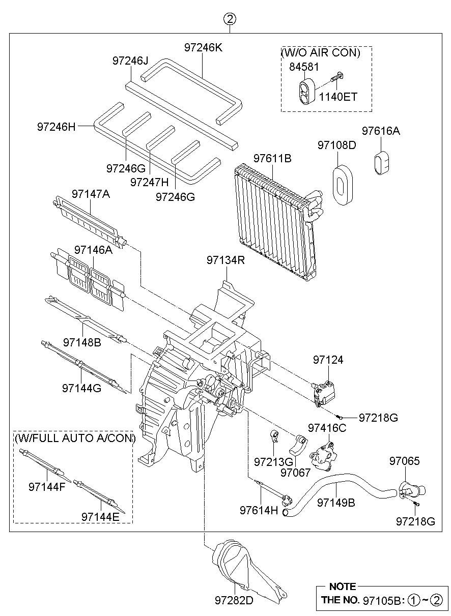Hyundai HEATER SYSTEM-HEATER & BLOWER