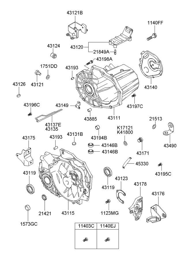 2003 Hyundai Santa Fe Plug-magnet. Casemanual