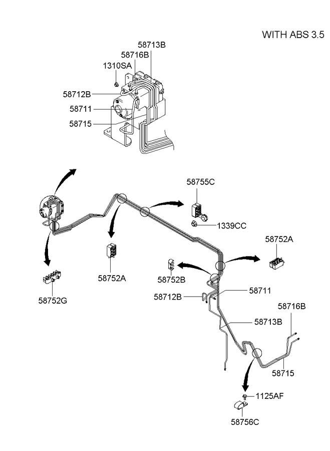 Hyundai Santa Fe Abs Parts Diagram. Hyundai. Auto Wiring
