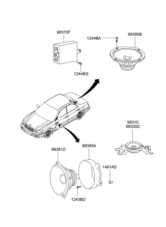 2002 Hyundai Sonata Retainer. Nut. Trim. Panel. Grommet