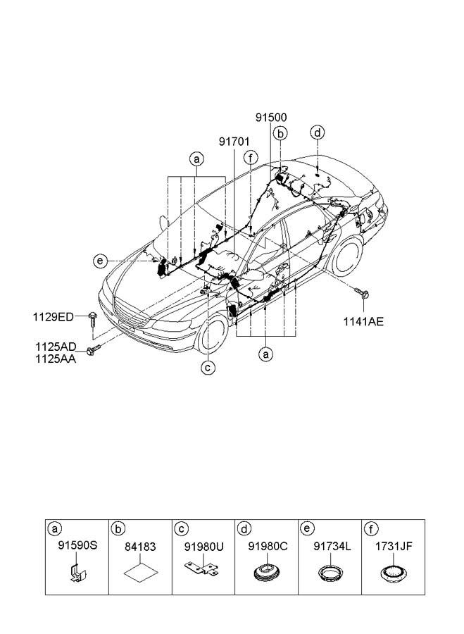 Hyundai Azera WIRING HARNESS-FLOOR