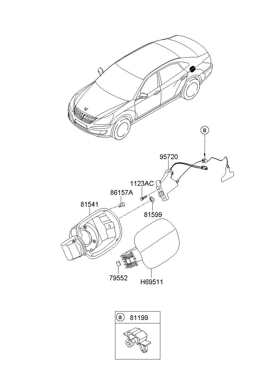 Hyundai FUEL FILLER DOOR (GAS TANK DOOR)