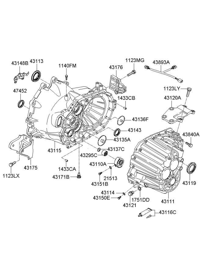 2006 Hyundai Santa Fe Manual Transmission Output Shaft
