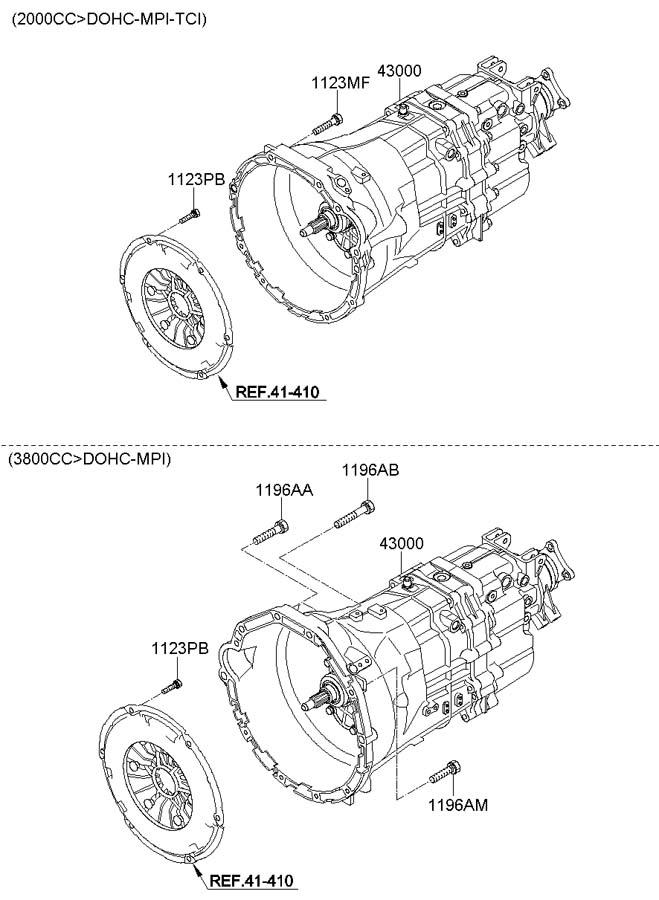 2012 Hyundai Genesis Coupe Clutch Pressure Plate Bolt