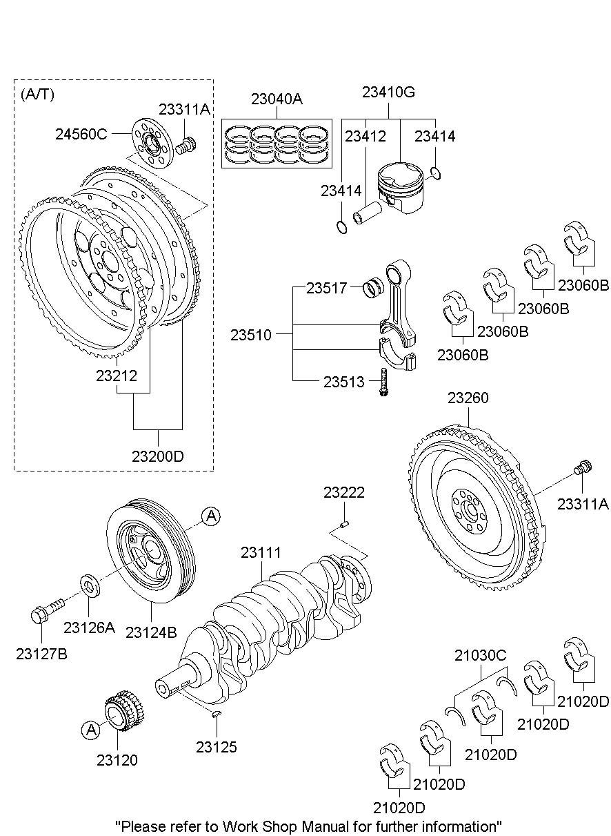 2013 Hyundai Genesis Coupe Bearing. Thrust. Crk/shf. Set