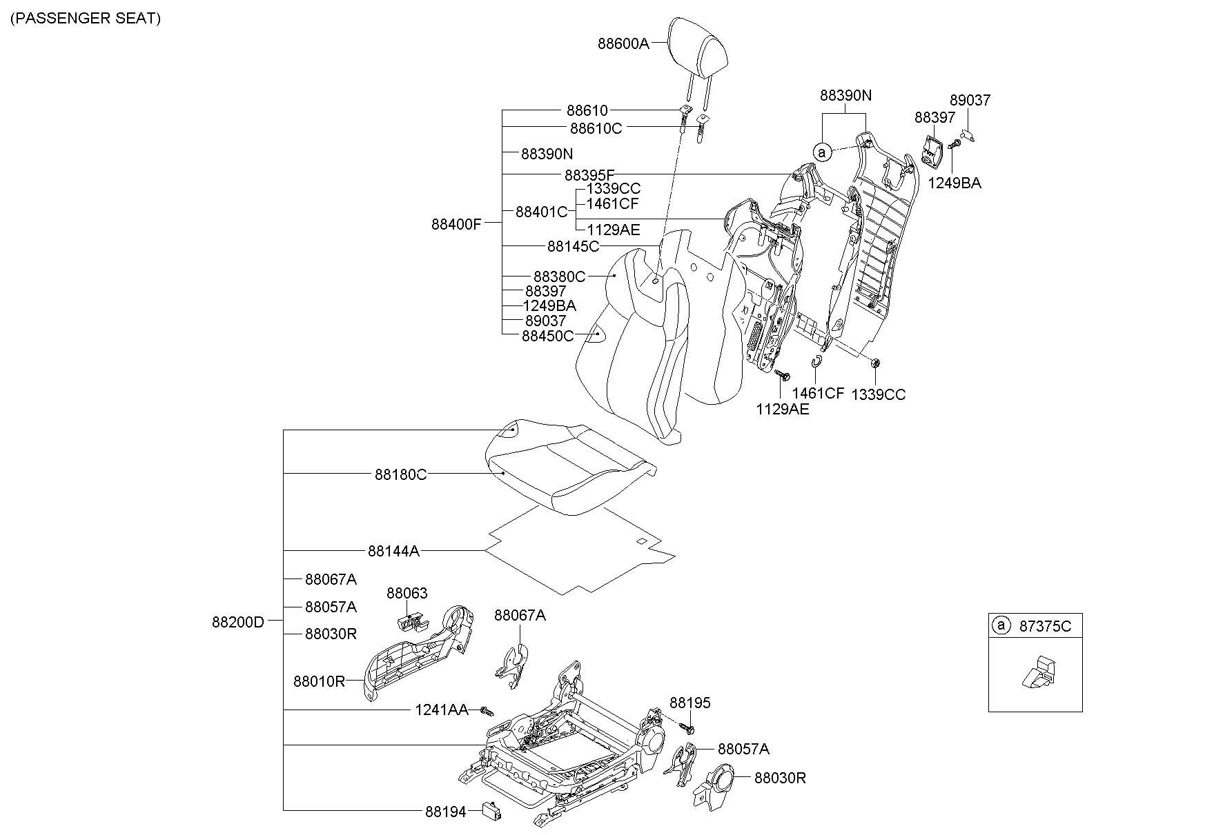 2013 Hyundai Genesis Coupe Headrest (Front). W/cloth