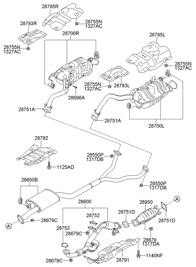 Service manual [Exhaust Removal 2010 Hyundai Veracruz