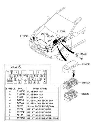 Hyundai Veracruz Wiring assembly  batt (  )  918503J011   Wholesale Hyundai Parts, Lakeland FL