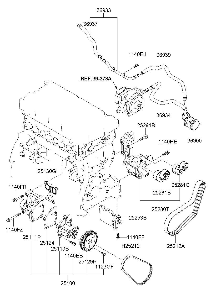 Hyundai Sonata Auxiliary pump. Engine auxiliary water pump
