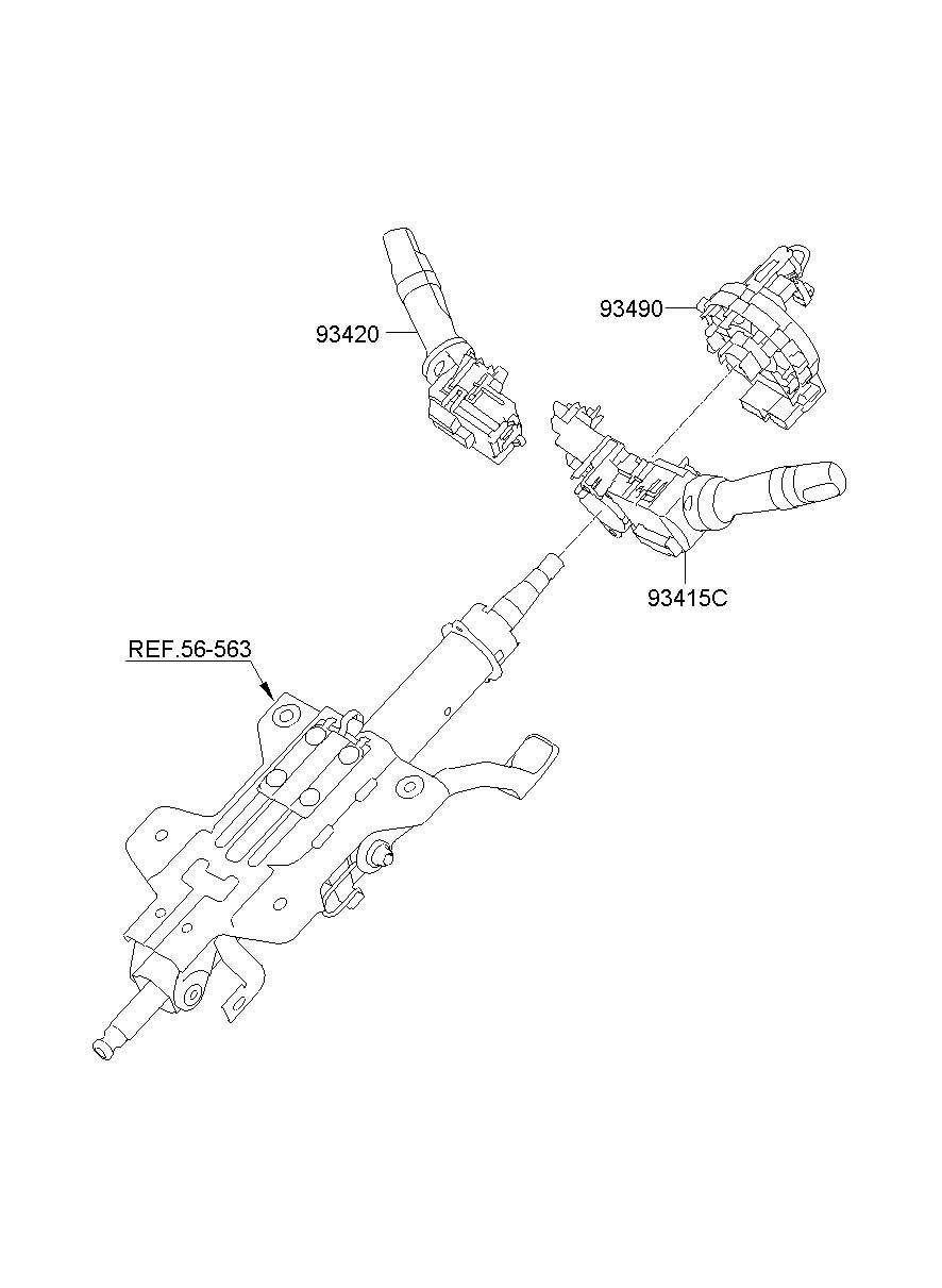 2011 Hyundai Sonata Air Bag Clockspring. CONTACT ASSEMBLY