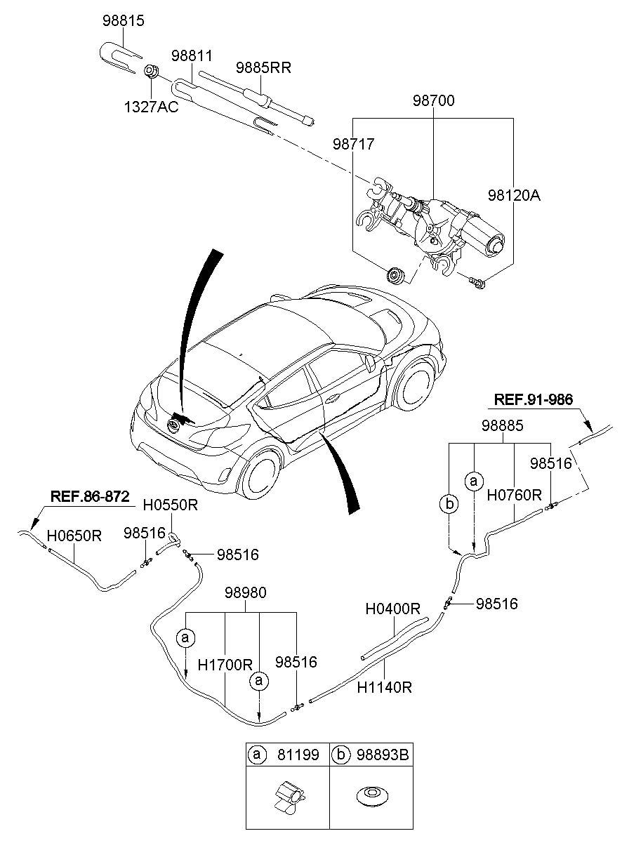 2013 Hyundai VELOSTER Base Hatchback 1.6L A/T Connector