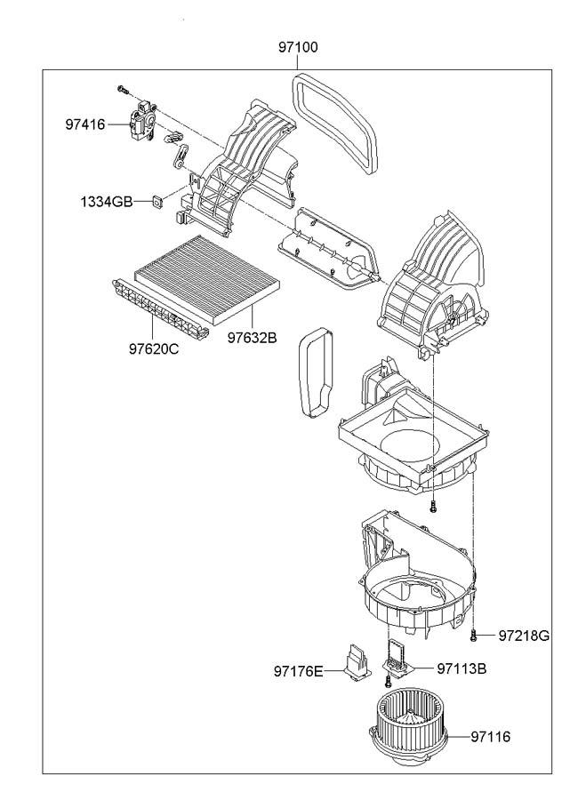 Hyundai I30 HEATER SYSTEM-HEATER & BLOWER