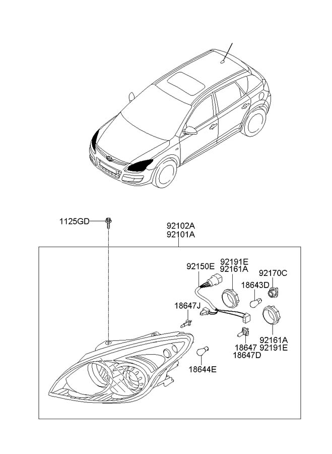 2007 Hyundai Bulb. Lamp. Signal. Light. WXENON, Marker
