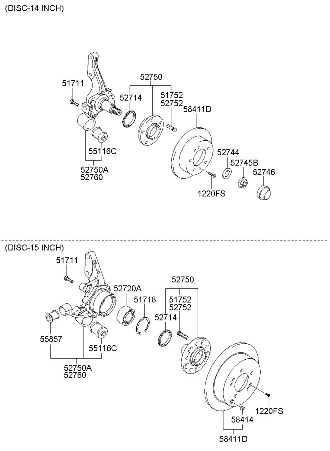 Hyundai Tucson Carrier assembly rear ( rear (rr) ) axle
