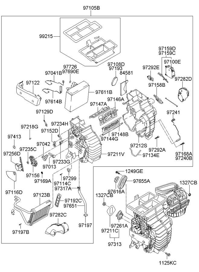 2008 Hyundai Tucson Hvac air inlet door actuator. Wrong