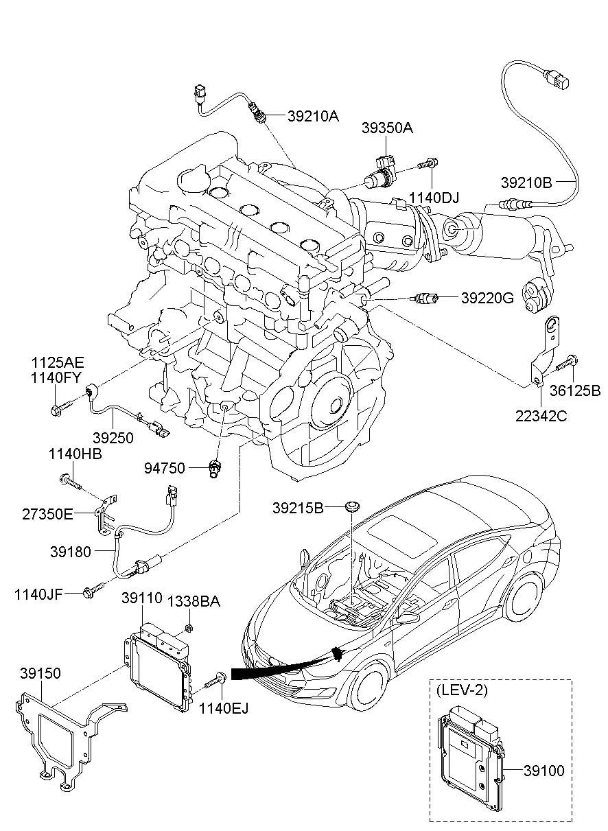 2011 Hyundai Elantra Sensor. Crankshaft. Position. Engine