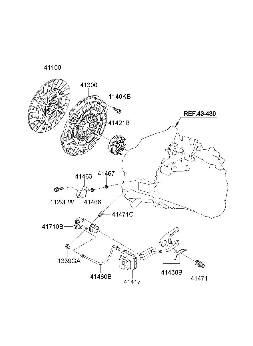 2015 Hyundai Accent Cylinder. Clutch. Slave. Assembly