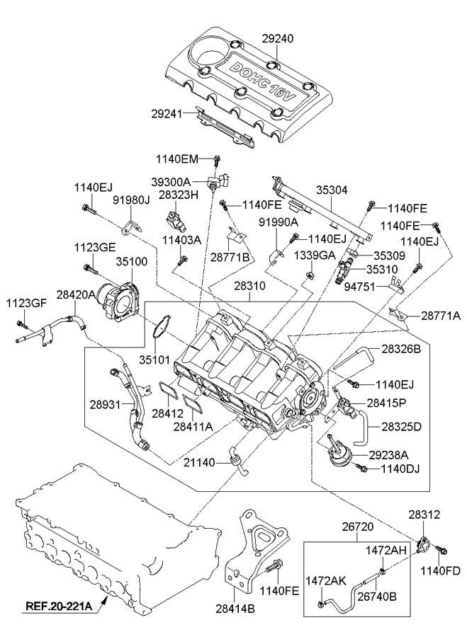 Hyundai Tucson Sensor. Manifold. Pressure. Map. Absolute