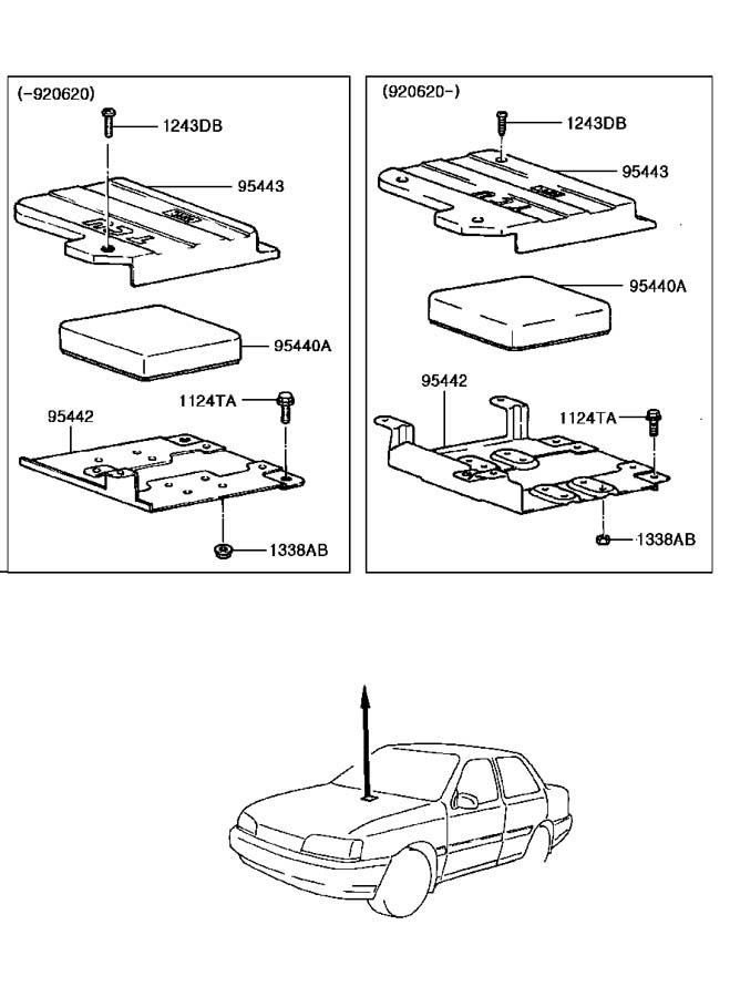 1991 Hyundai EXCEL AUTOMATIC TRANSMISSION (A/T) CONTROL