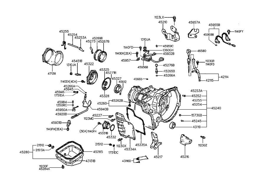 Hyundai Elantra Automatic Transmission Output Shaft Seal