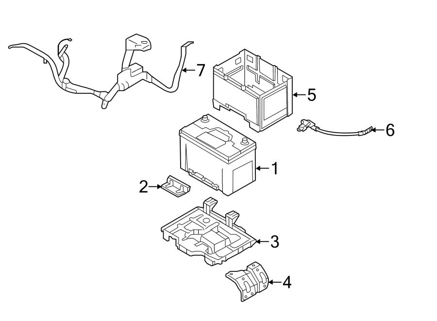 Hyundai Sonata Battery Cable. NEGATIVE CABLE. SENSOR