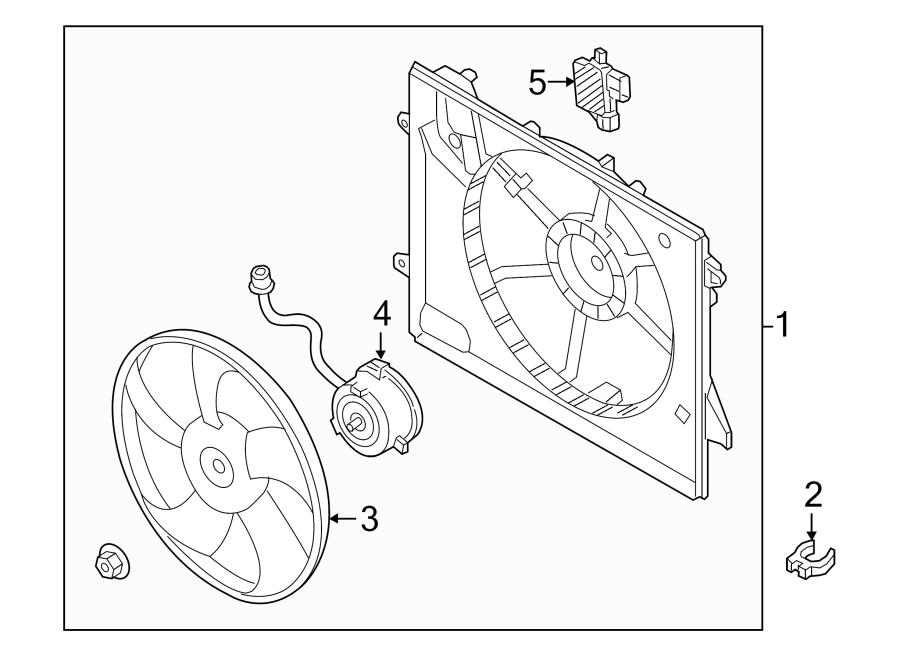 Hyundai Sonata Blower ASSEMBLY. Engine Cooling Fan