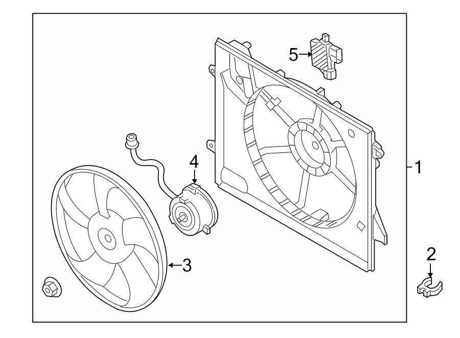 Hyundai Sonata Blower ASSEMBLY. Engine Cooling Fan