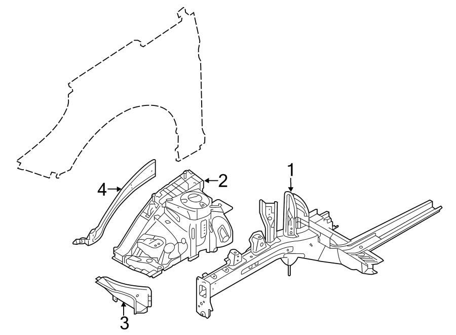 Hyundai Sonata Apron assy bracket. Fender Apron Bracket. W
