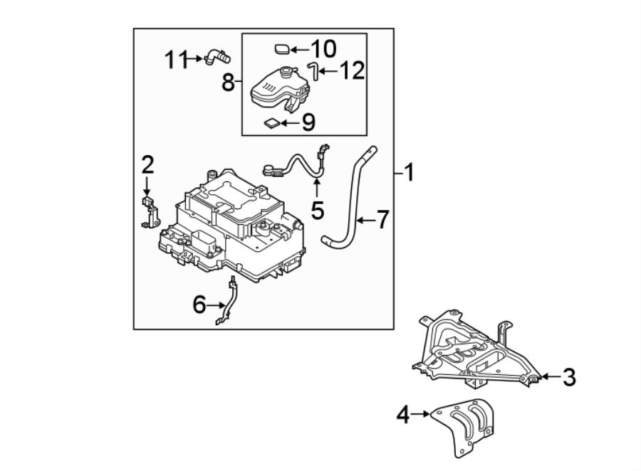 Hyundai Sonata Hpcu. Inverter. Reservoir module. Control