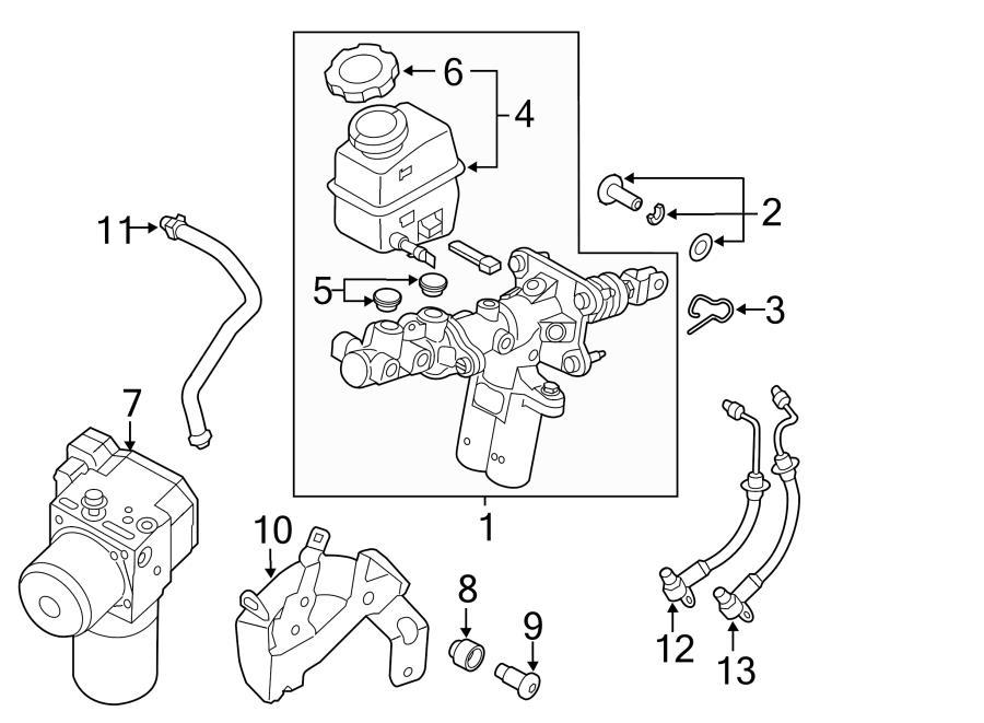 Hyundai Sonata Hydraulic power unit assembly. Hydraulic
