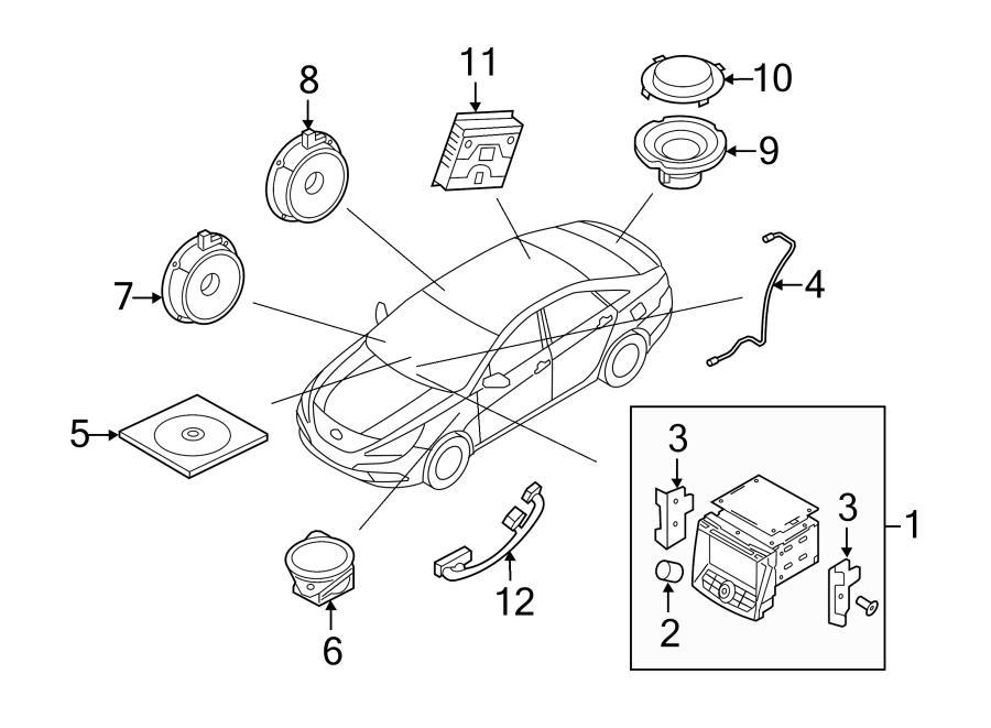 2013 Hyundai Sonata Audio Auxiliary Jack. JACK ASSEMBLY