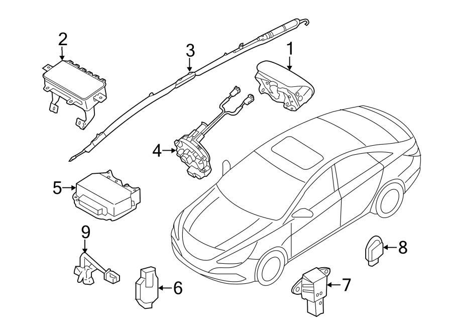 Hyundai Sonata Air Bag Wiring Harness. Wire harness