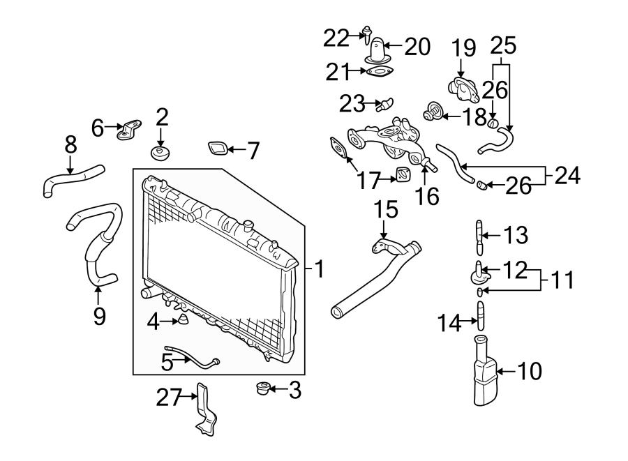 2005 Hyundai Elantra Engine Coolant Temperature Sensor