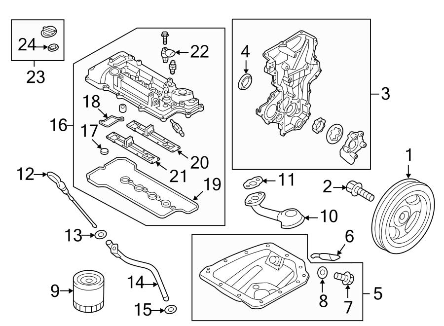 Hyundai Accent Sensor. Camshaft. Position. Engine. Bolt