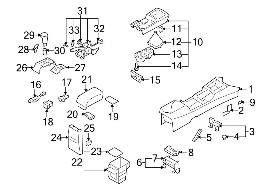 2008 Hyundai Elantra Console Armrest. SEDAN, 2007-09, w