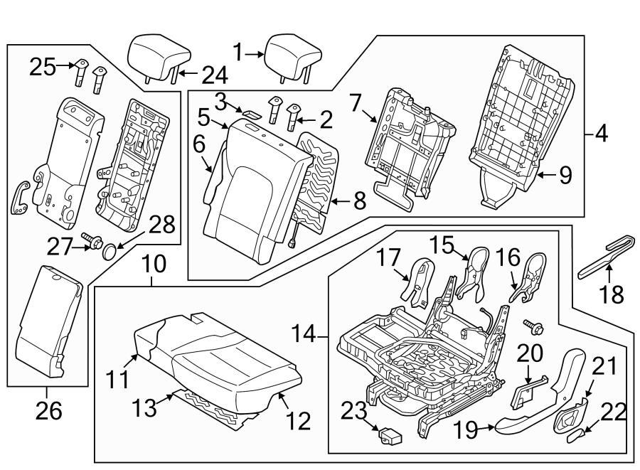Hyundai Santa Fe Seat Trim Panel. Side cover. W/SPORT
