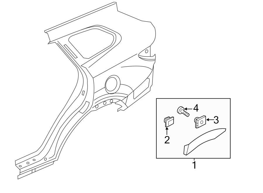 2017 Hyundai Santa Fe Wheel Arch Molding. Wheel opng mldg