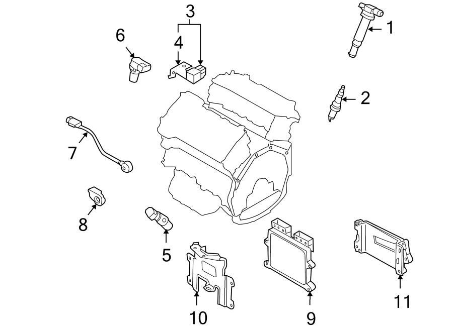 Hyundai GENESIS Ignition Knock (Detonation) Sensor. KNOCK