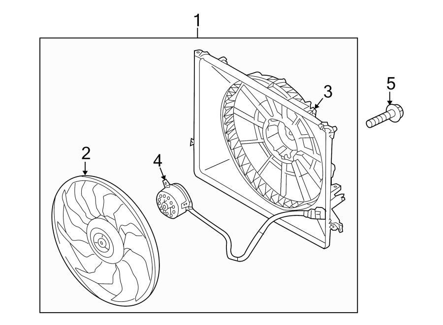 2016 Hyundai Genesis Coupe Engine Cooling Fan Shroud