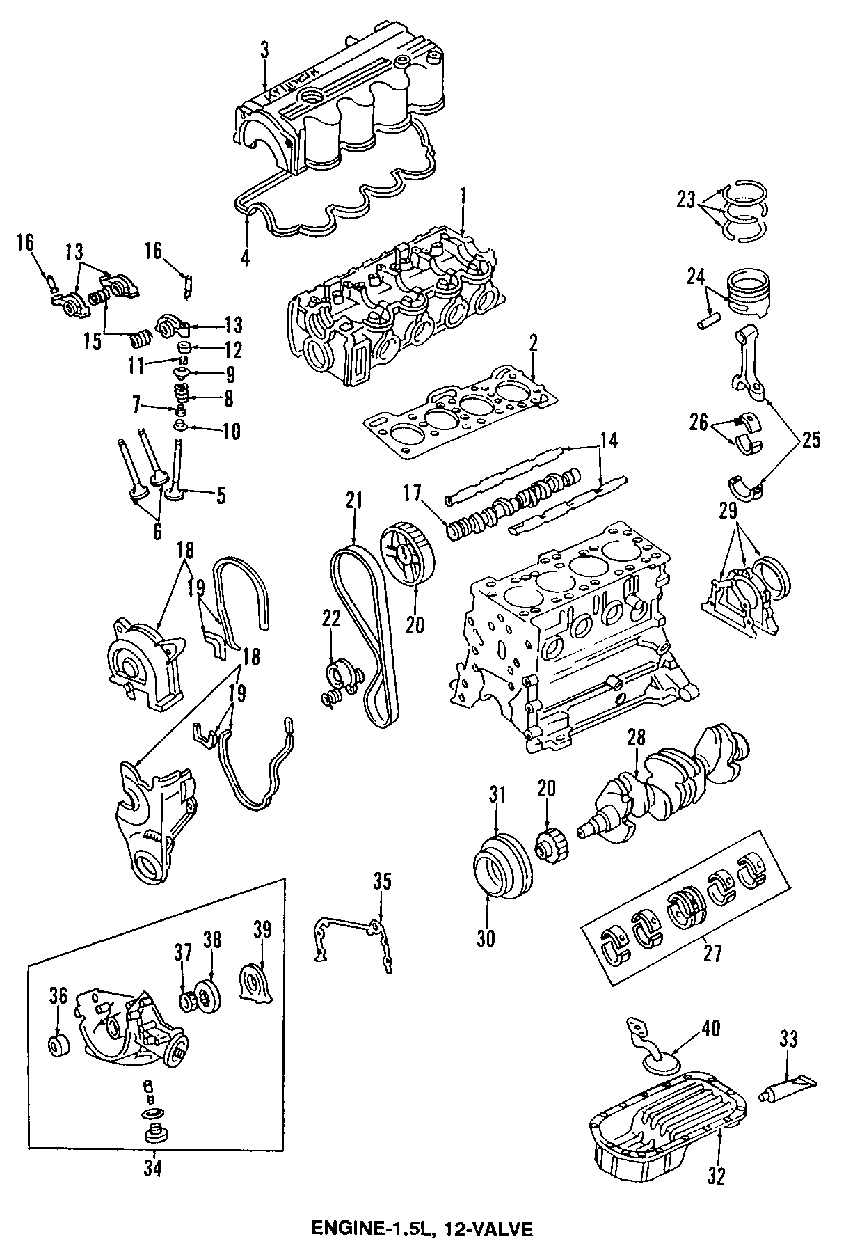 2009 Hyundai Accent Engine Timing Camshaft Sprocket